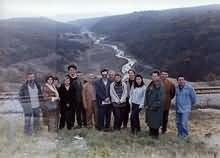 Učesnici promocije iznad korita Borske reke