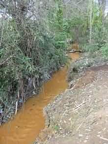 Voda iz rudnika u Probištipu.